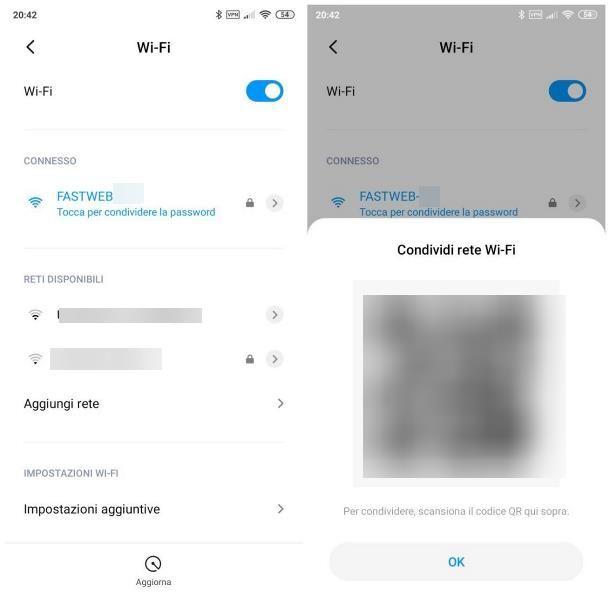 Come condividere password WiFi Android
