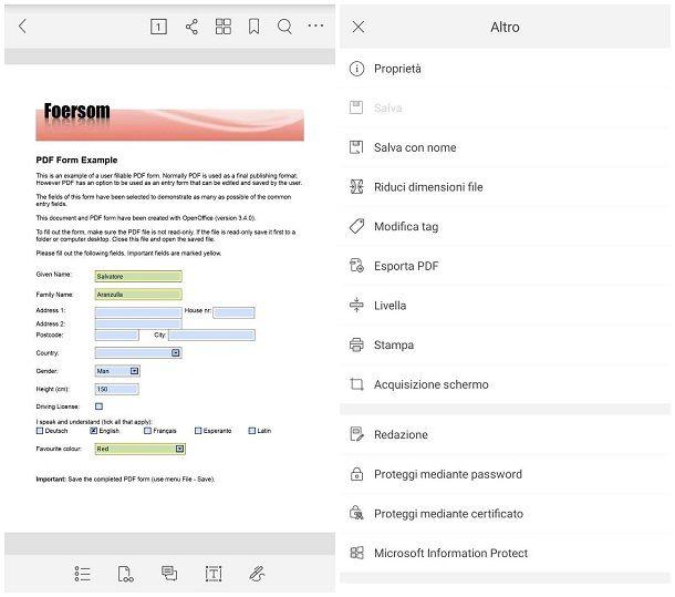Come faccio a compilare un modulo in PDF