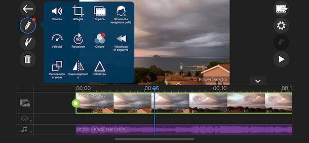 Modificare un video con PowerDirector