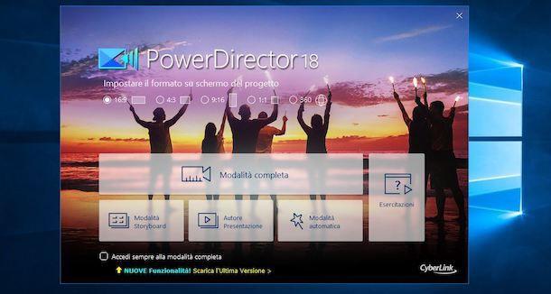 Creare un progetto su PowerDirector