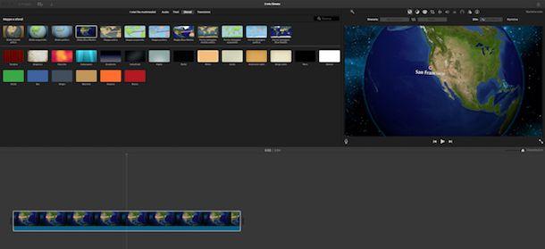 Sfondi iMovie per Mac