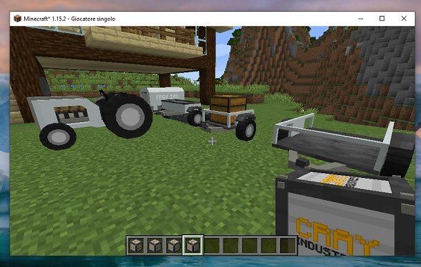 Accessori trattore Minecraft