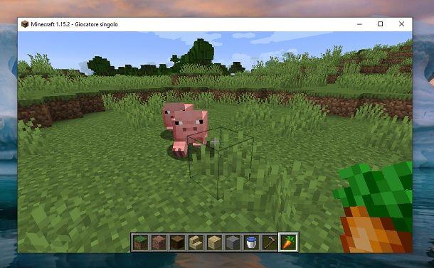 Farsi seguire dagli animali in Minecraft