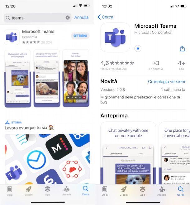 Come scaricare Microsoft Teams su iPhohe