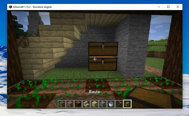 Bauli sottoscala Minecraft