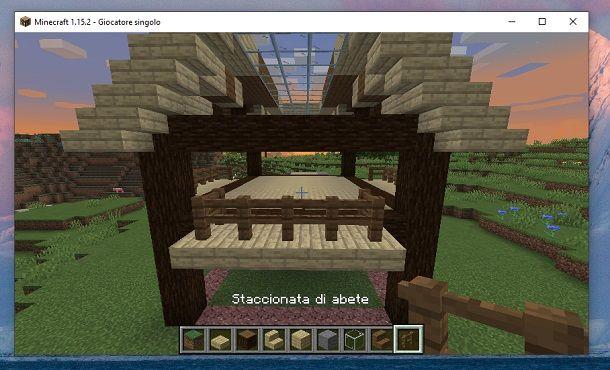 Staccionata di abete altra parte Minecraft