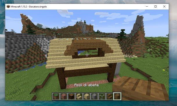 Struttura alto altro lato Minecraft