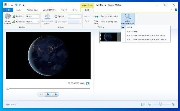 Come stabilizzare un video con Movie Maker