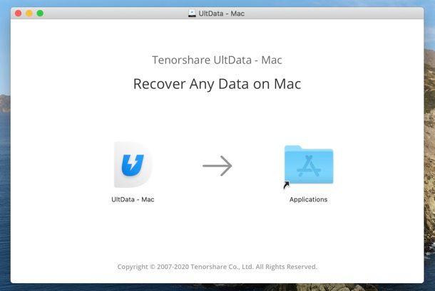 Installazione Tenorshare UltData Mac