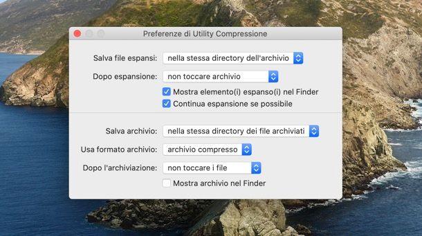 Utilidad de compresión de Mac