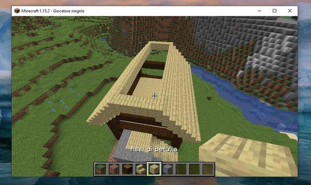 Tetto vuoto Minecraft