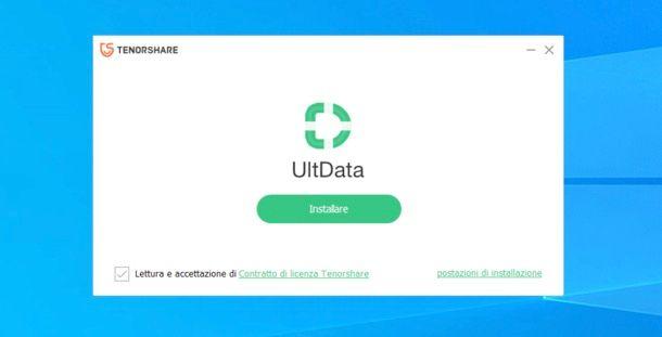 Installazione Tenorshare UltData iOS