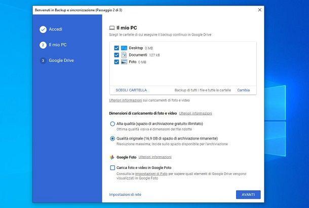 Caricare foto su Google Drive con Backup e Sincronizzazione