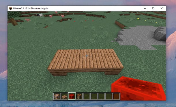Distruggi blocchi Minecraft