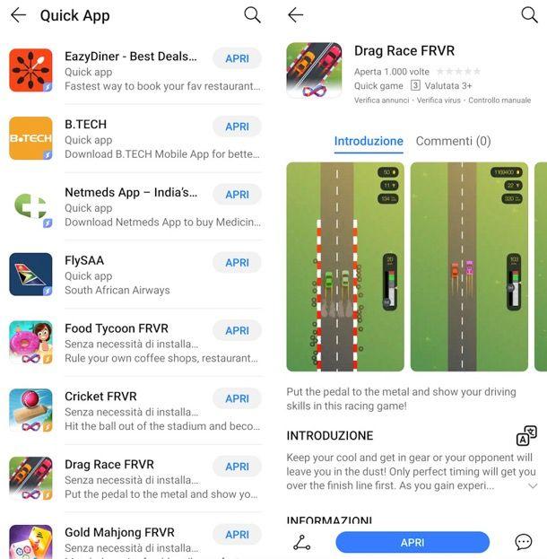 Huawei Quick App