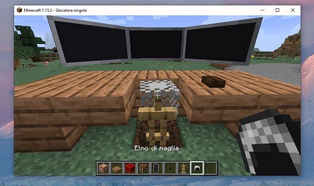 Elmo di maglia Minecraft