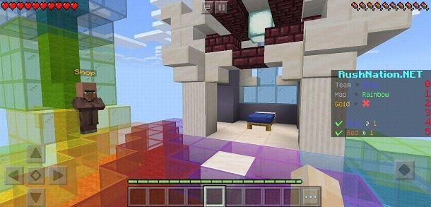 Giocare BedWars Minecraft PE
