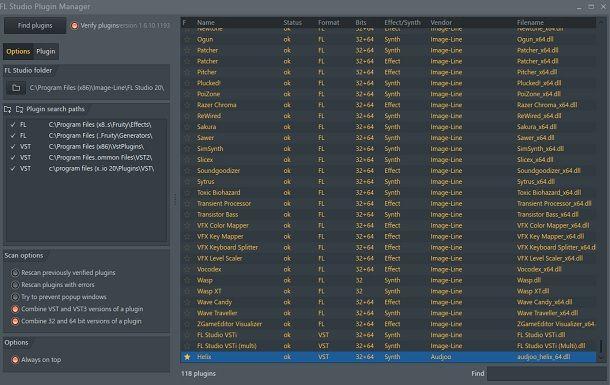 Installare plugin FL Studio