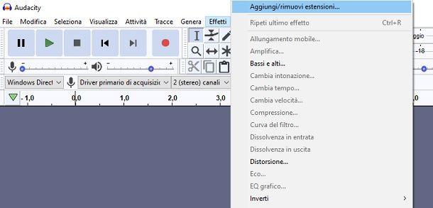 Installare plugin VST Audacity