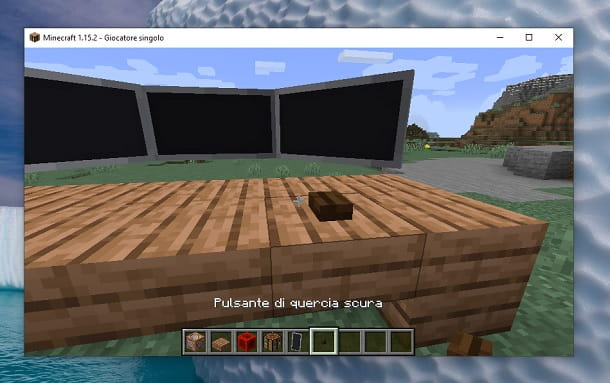 Pulsante di quercia scura Minecraft