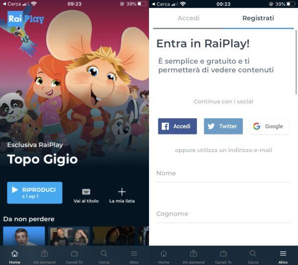 Raiplay app