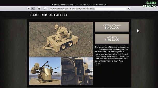 Rimorchio Antiaereo GTA Online