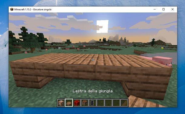 Tavolo lastra della giungla Minecraft