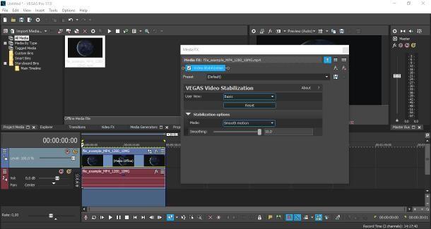 Come stabilizzare un video con Sony VEGAS