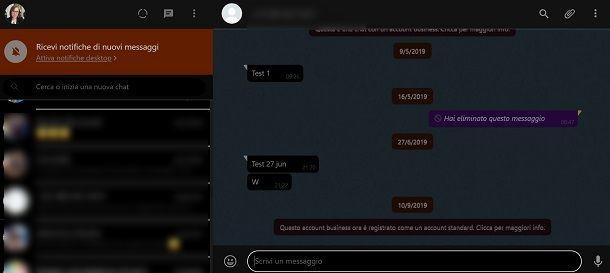 Tema scuro whatsApp web_