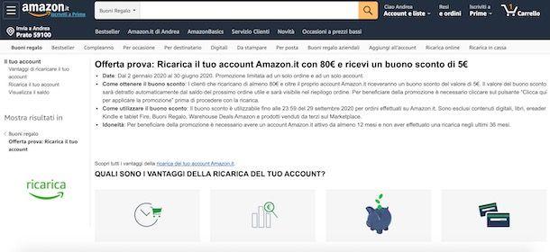 Guadagnare buoni Amazon