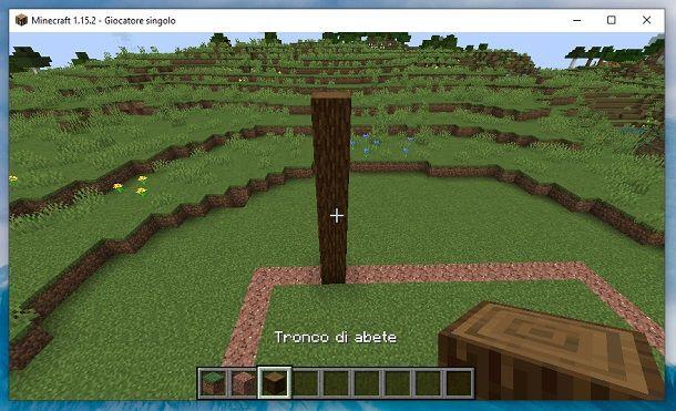 Colonna tronco di abete Minecraft