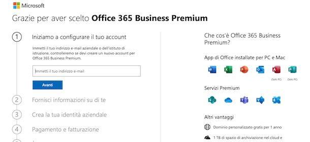 Come attivare Microsoft Teams a pagamento