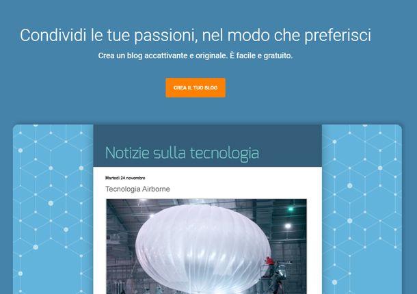 Il sito di Blogger