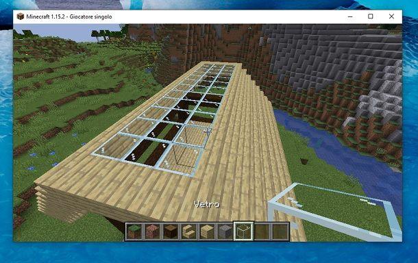 Vetro tetto Minecraft