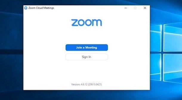 Accedere a Zoom su PC Windows