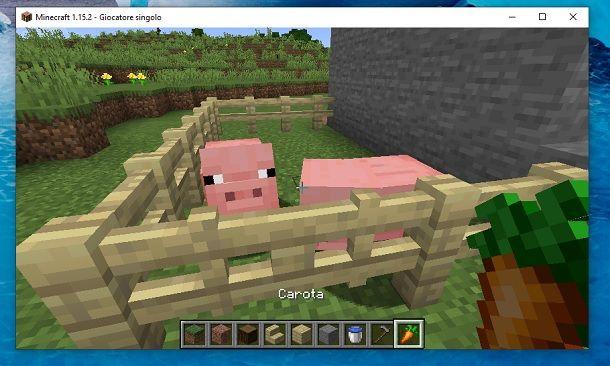 Maiali recinto Minecraft