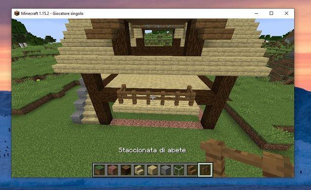 Staccionata di abete Minecraft