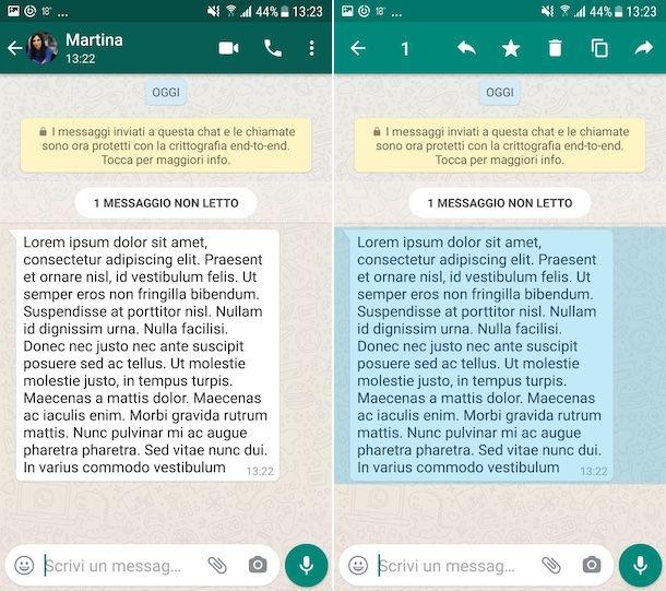 Copiare messaggi WhatsApp su Android
