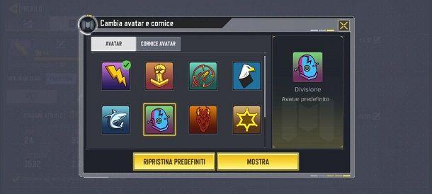 Cambia immagine profilo COD Mobile