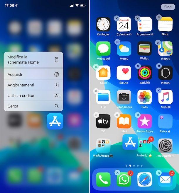 Organizzare schermata Home iPhone