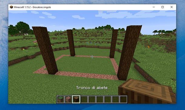Quattro colonne Minecraft