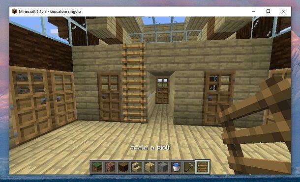 Porte di quercia destra sinistra Minecraft