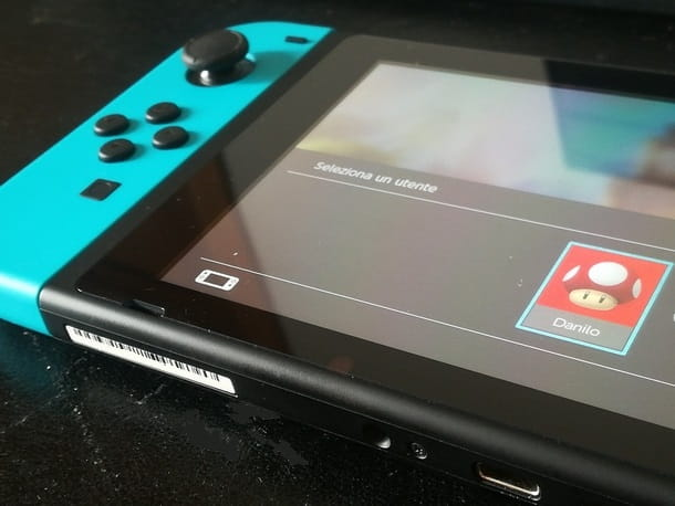 Preparazione alla registrazione su Nintendo Switch