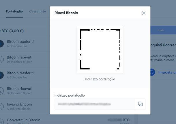 Come ricevere Bitcoin