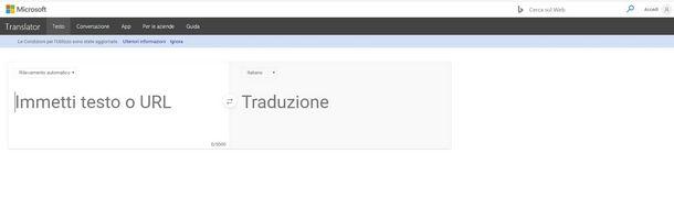 Bing è uno strumento di traduzione istantanea alternativo a Google Traduttore