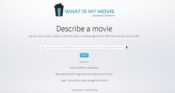 What Is My Movie è il motore di ricerca ideato per trovare film