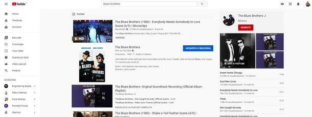 Gli operatori di ricerca sono validi anche su YouTube