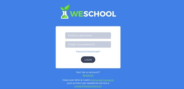 Come accedere su WeSchool