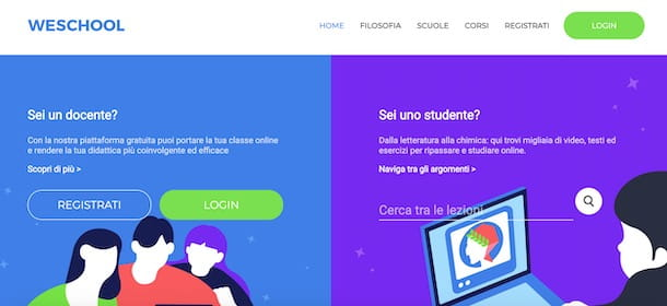 Come registrarsi su WeSchool docente