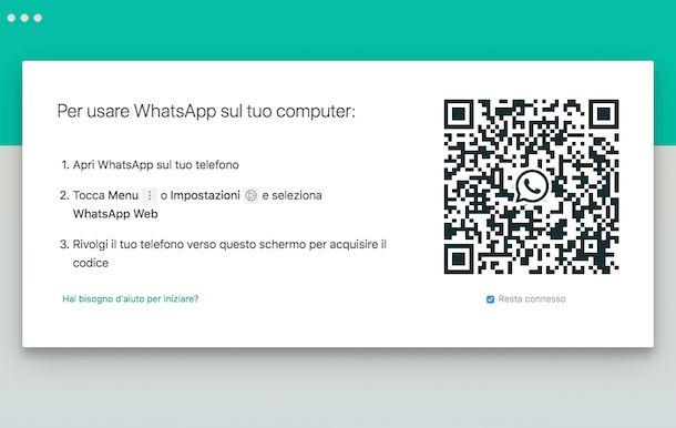 Come accedere a WhatsApp dal computer senza telefono
